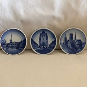 Three Vintage Mini Plates